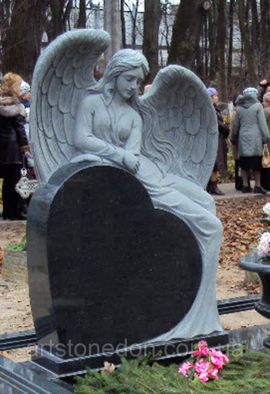 Надгробные памятники из гранита с ангелом  в рисунки на памятники из гранита альтуфьево