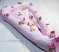 Гнездышко кокон babynest позиционер для новорожденного