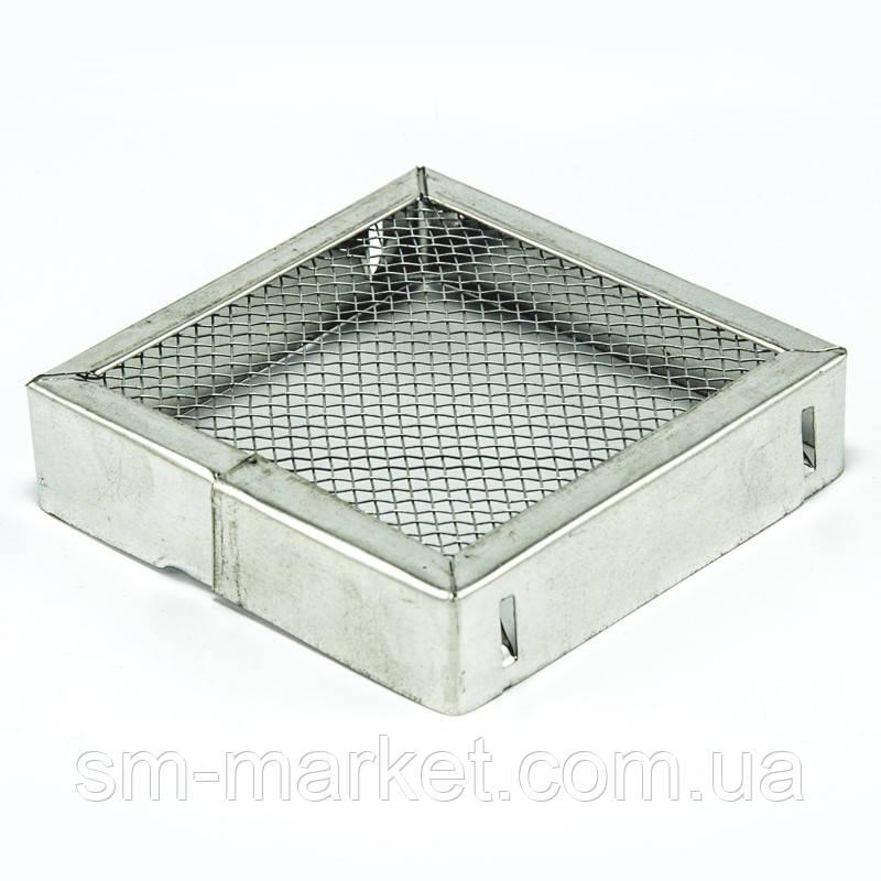 Ковпачок для матки з оцинкованої сталі квадрат 90 мм