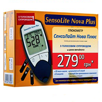 Глюкометр SensoLite Nova Plus (голосовое сопровождение)