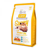 Brit Care Cat Sunny I have Beautiful Hair, корм для кошек при проблемах кожи и шерсти, 2кг
