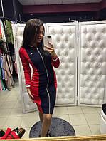 """Модное платье женское в спортивном стиле с молнией """"Gucci"""" трикотаж (2 цвета)"""