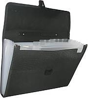 Папка-портфель А4 13отделений Economix E31604 черная
