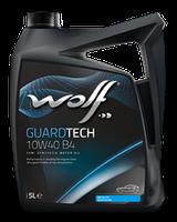 Полусинтетическое моторное масло Wolf guardtech 10w-40 B4