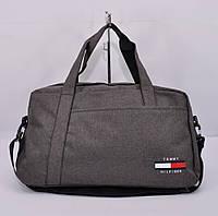 Cпортивная, дорожная сумка Tommy Hilfiger 1220-2 темно-серая