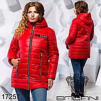 Теплая куртка из плащёвки насинтепоне 200 с капюшоном размер 50,52,54