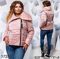 Короткая  куртка из плащёвки насинтепоне 150 с капюшоном размер 48,50,52