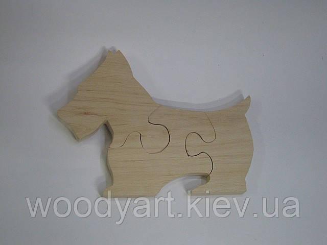 Пазл деревянный «скотч-терьер»