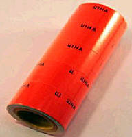 Ценник 20 х 30 мм цвета в красный.