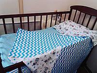 """Комплект постельного белья """"Морская волна""""  в кроватку, фото 1"""