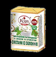 Сыр плавленый со вкусом сметаны и зелени ТМ Козуб Продукт 910262