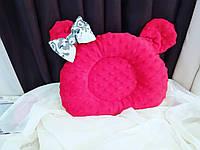 Ортопедическая красная подушка для новорожденных из плюша