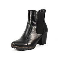 Ботинки зимние женские Vakardi V265 черная кожа