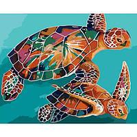 "Картина по номерам ""Черепахи"" 40х50 см"