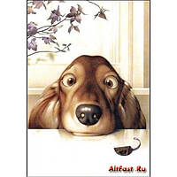 "Картина по номерам ""Пустотливе щеня"" 30х40 см"