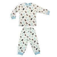Детская пижама с манжетами на штанах, на рост - 86, 98, 104, 116 см. (арт: 3-07)