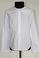 Шкільна блузка для дівчинки: Ворот білий