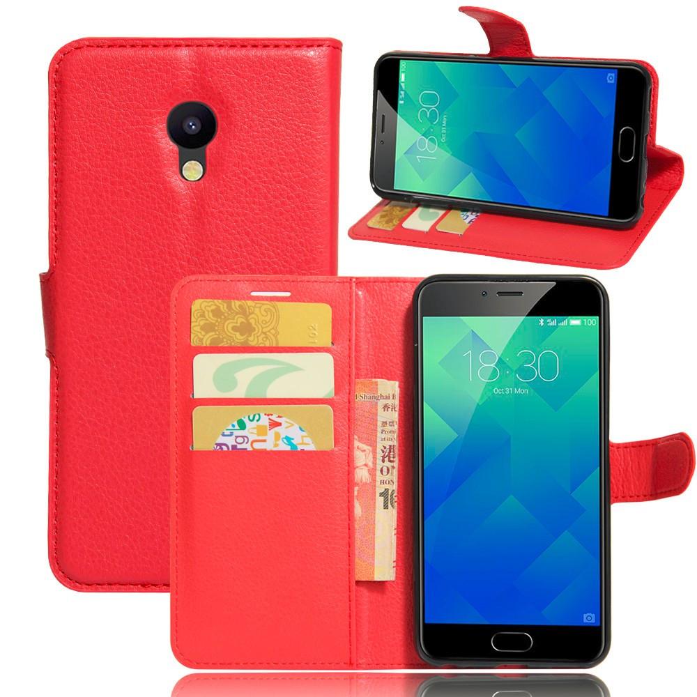 Чехол Meizu M5C / Meilan A5 оригинальный книжка кожа PU красный