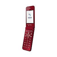 Кнопочный мобильный телефон раскладушка Sigma mobile X-Style 28 Flip red