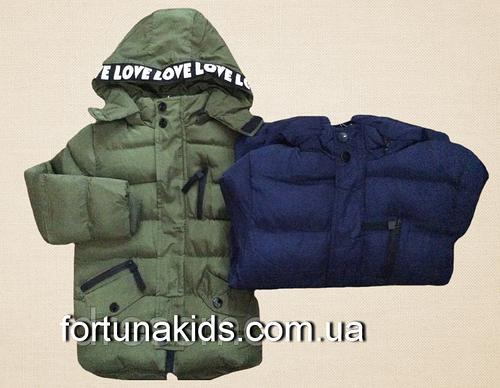 Куртки зимние на меху для мальчиков KE YI QI 1-5 лет