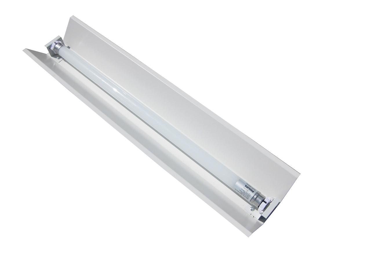 Светильник под люминисцентную лампу трассовый 100lamp открытый 1*36W СПВ 01 1200  с электронным балластом