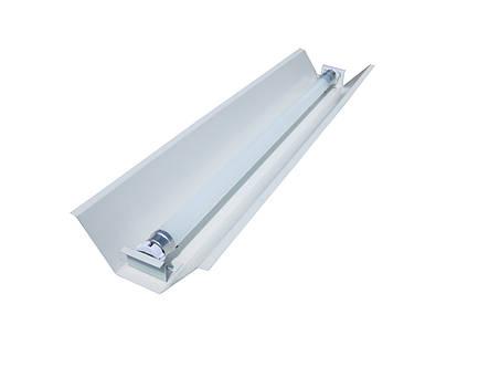 Светильник под люминисцентную лампу трассовый 100lamp открытый 1*36W СПВ 01 1200  с электронным балластом, фото 2
