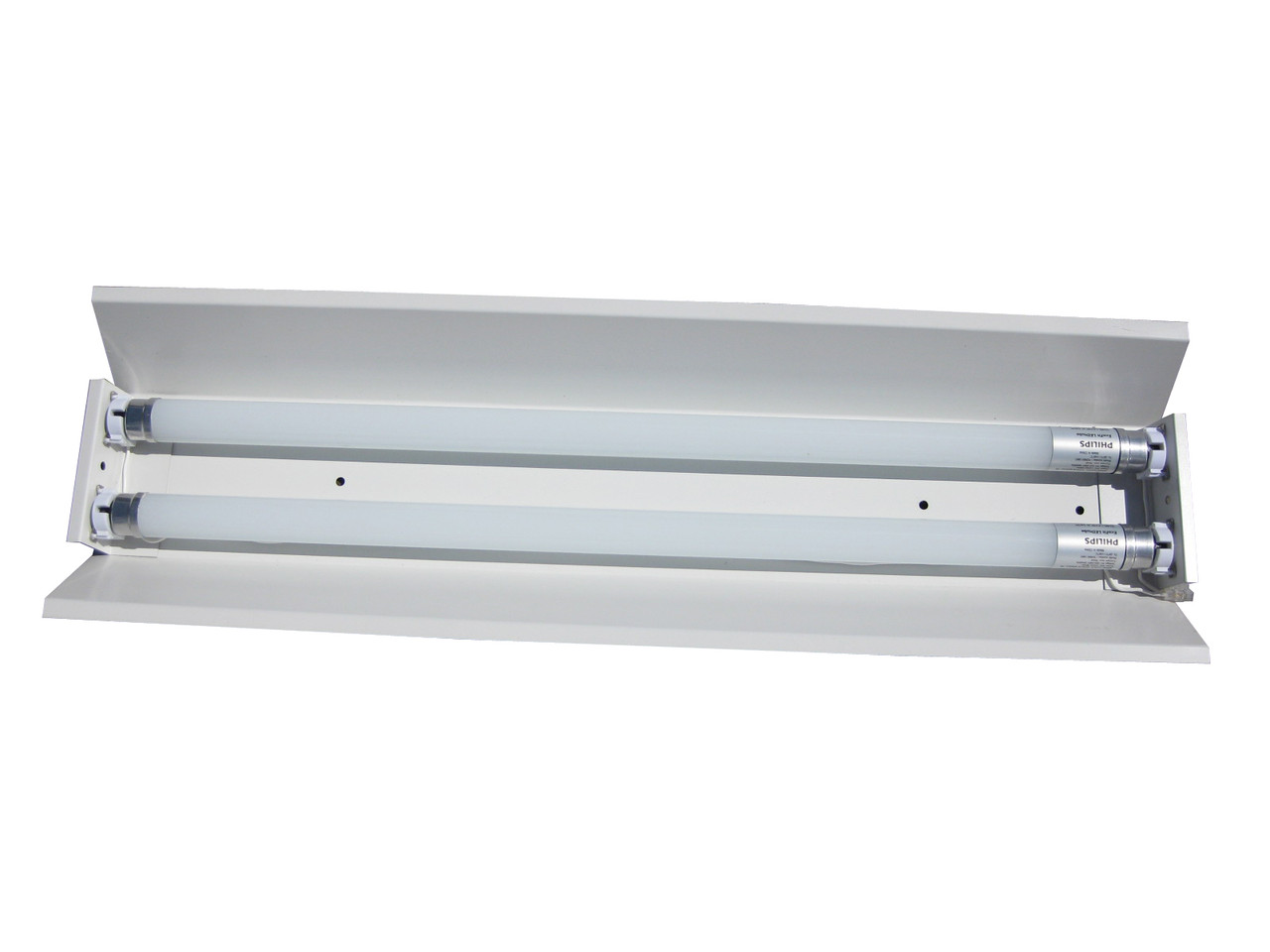 Светильник под люминисцентную лампу трассовый 100lamp открытый 2*36W СПВ 02 1200 с электронным балластом
