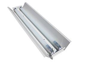 Светильник под люминисцентную лампу трассовый 100lamp открытый 2*36W СПВ 02 1200 с электронным балластом, фото 2