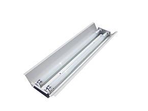 Светильник под люминисцентную лампу трассовый 100lamp открытый 2*36W СПВ 02 1200 с электронным балластом, фото 3