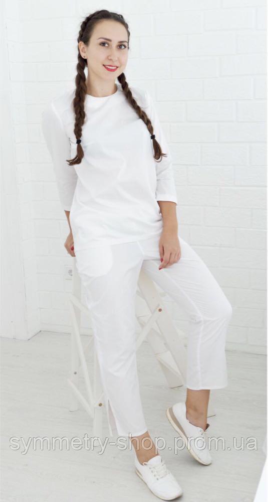 0302 Медицинский костюм, белый, фото 1
