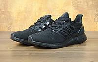 Мужские кроссовки Adidas Ultra Boost черные, фото 1
