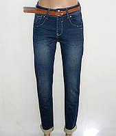 Женские джинсы теплые с ремнем (25-30) осень-зима