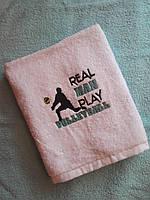 Спортивний рушник Real man play volleyball