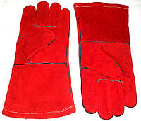 Перчатки спилковые Сварщика замшевые, плотные с крагой и подкладом, 100% - Качество!