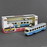 Трамвай металлопластик 6411 С (96/4) инерция, в коробке Длина:20 см Ширина:6 см Высота:8 см Упаковка:Короб