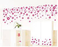 Интерьерная наклейка на стену Маленькие цветы (DXL106)