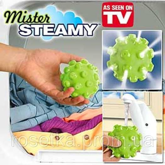 Шар для стирки в стиральной машинке Mister steamy, шарик для стирки белья без порошка