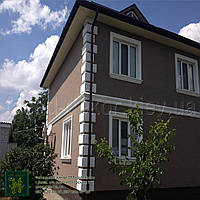 Отделка фасада дома пенопластом: рустовка