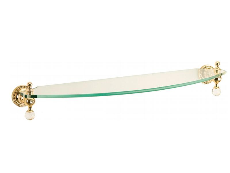 Полиця до ванної скляна Kugu Swan 403G, золото