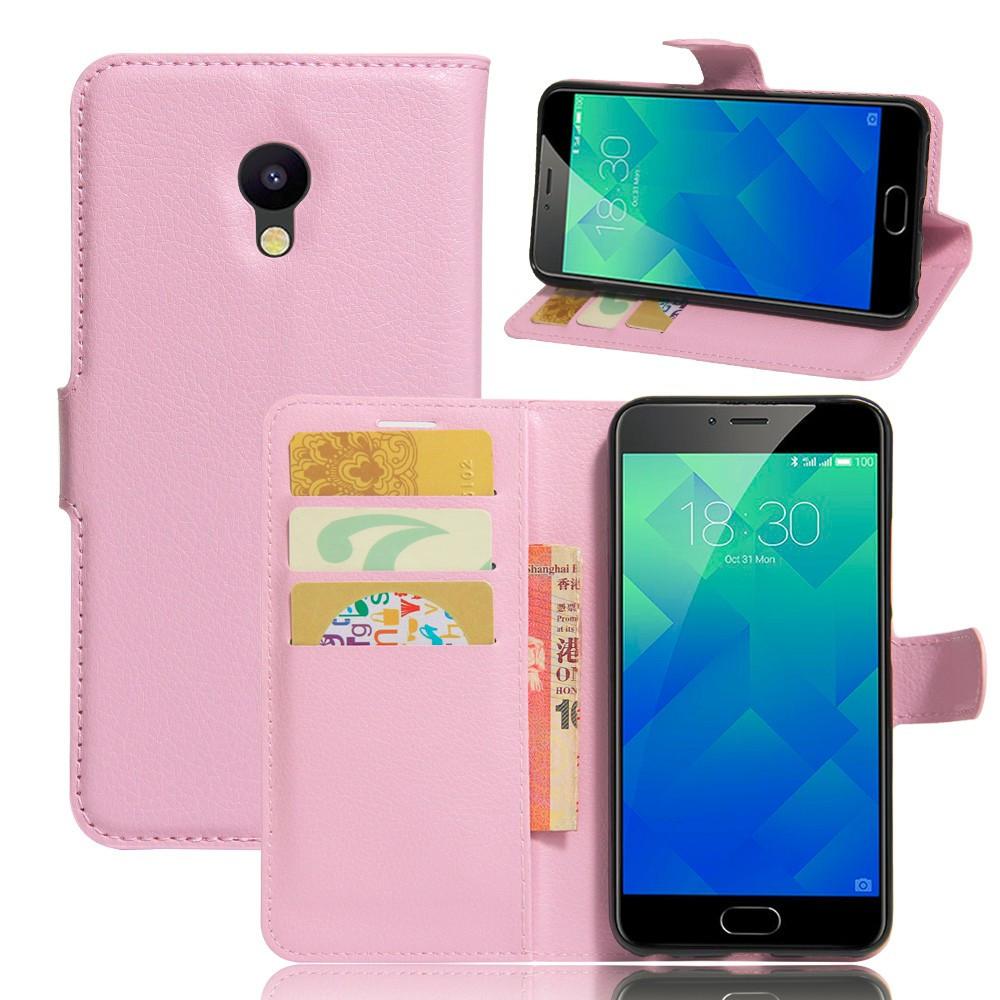 Чехол Meizu M5C / Meilan A5 оригинальный книжка кожа PU розовый