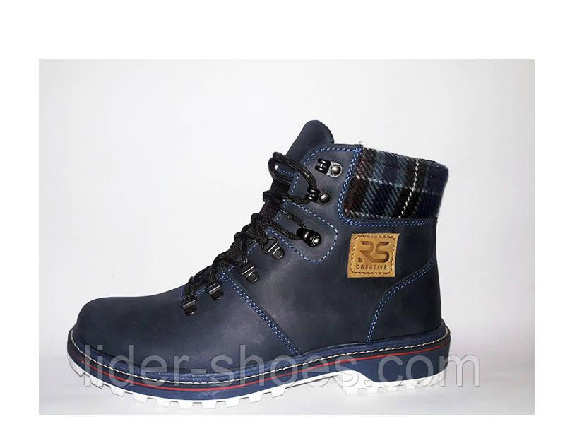 Мужские кожаные ботинки на шнурках реплика