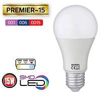 """Лампа светодиодная LED """"PREMIER-15"""" HL4315L 15W Е27 6400K HOROZ (Турция) колба А60"""