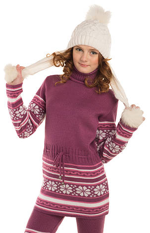 b0b1d1591221 Детская вязаная туника на девочку в расцветках, р.128-152: продажа ...