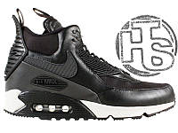 Мужские кроссовки Nike Air Max 90 Sneakerboot Black/White 684714-001