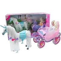 Карета с лошадью и куколкой