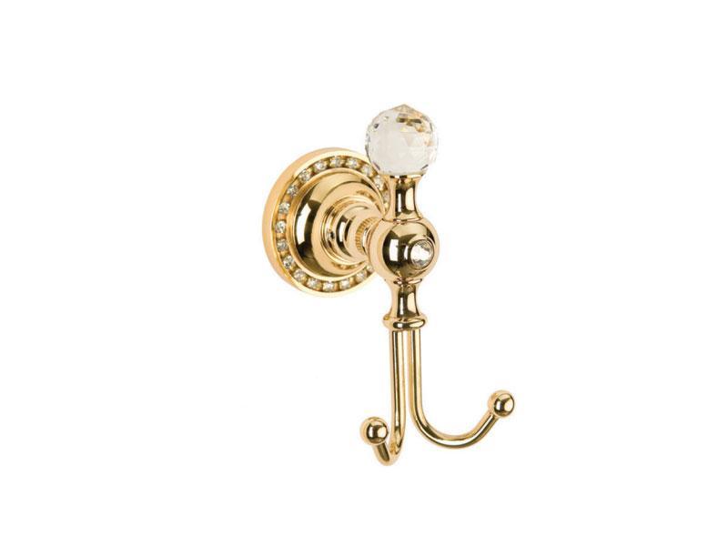 Крючок двойной для полотенец Kugu Swan 410G, золото