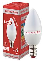 Светодиодная лампа Economka 4w E14 свеча 4200K