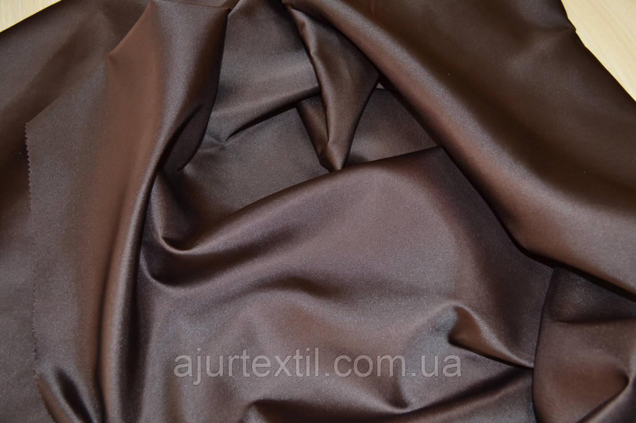 Штора  однотонная шоколадно-коричневая
