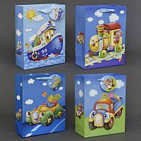 """Подарочный пакет 3D 01456 """"Транспорт"""" (720) 4 вида, 18*24*8 см"""