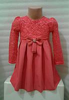 Платье для девочки (красное) с бантиком